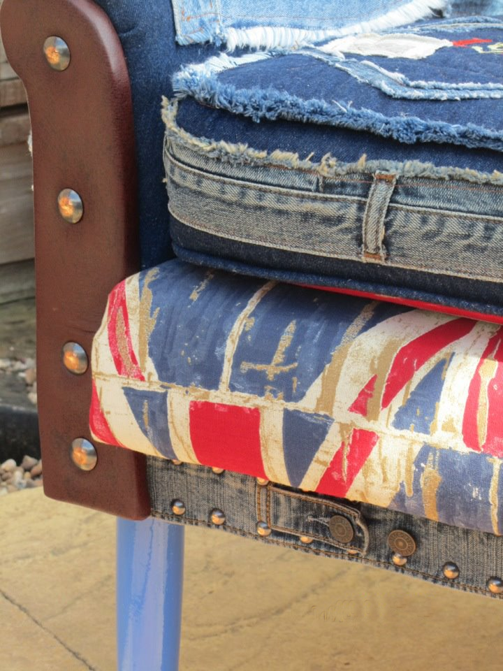 Chair Denim Flag