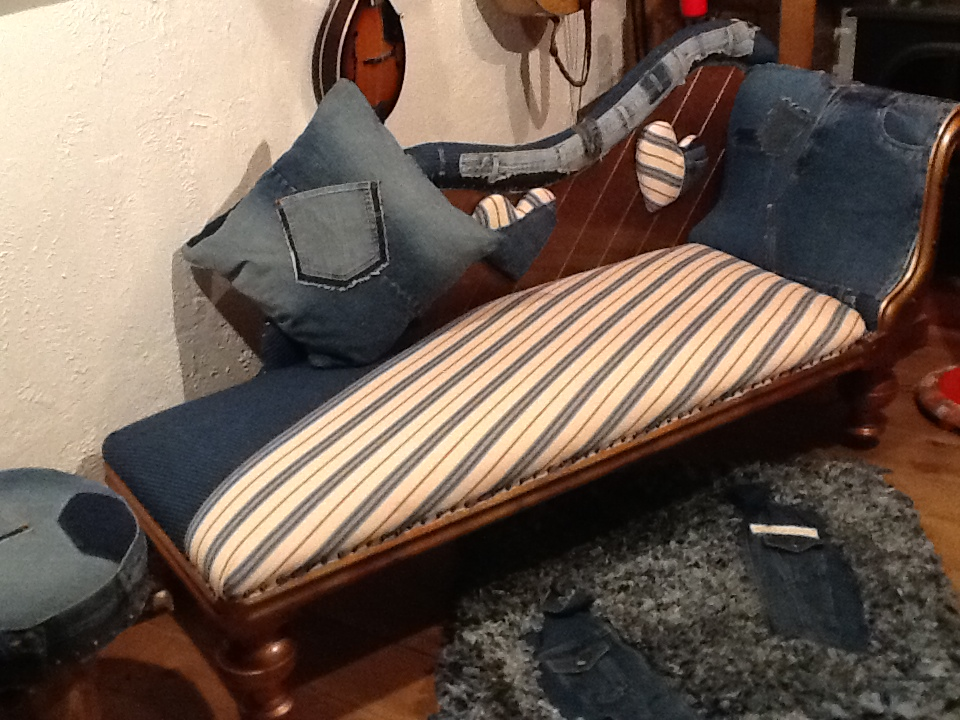 Chaise Longue Denim stripes