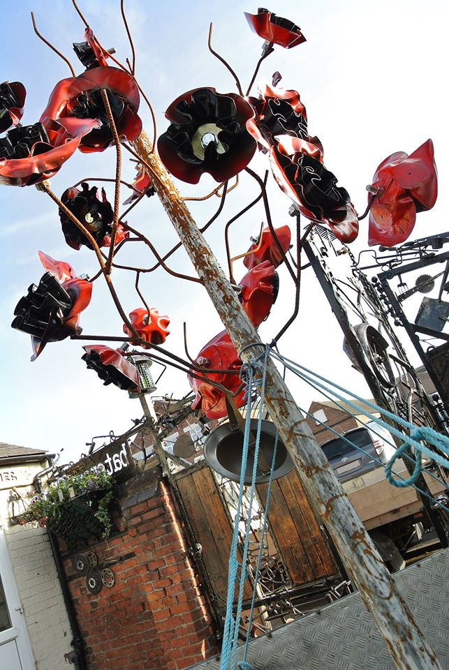 Retford's Poppy Tree Memorial Sculpture 1